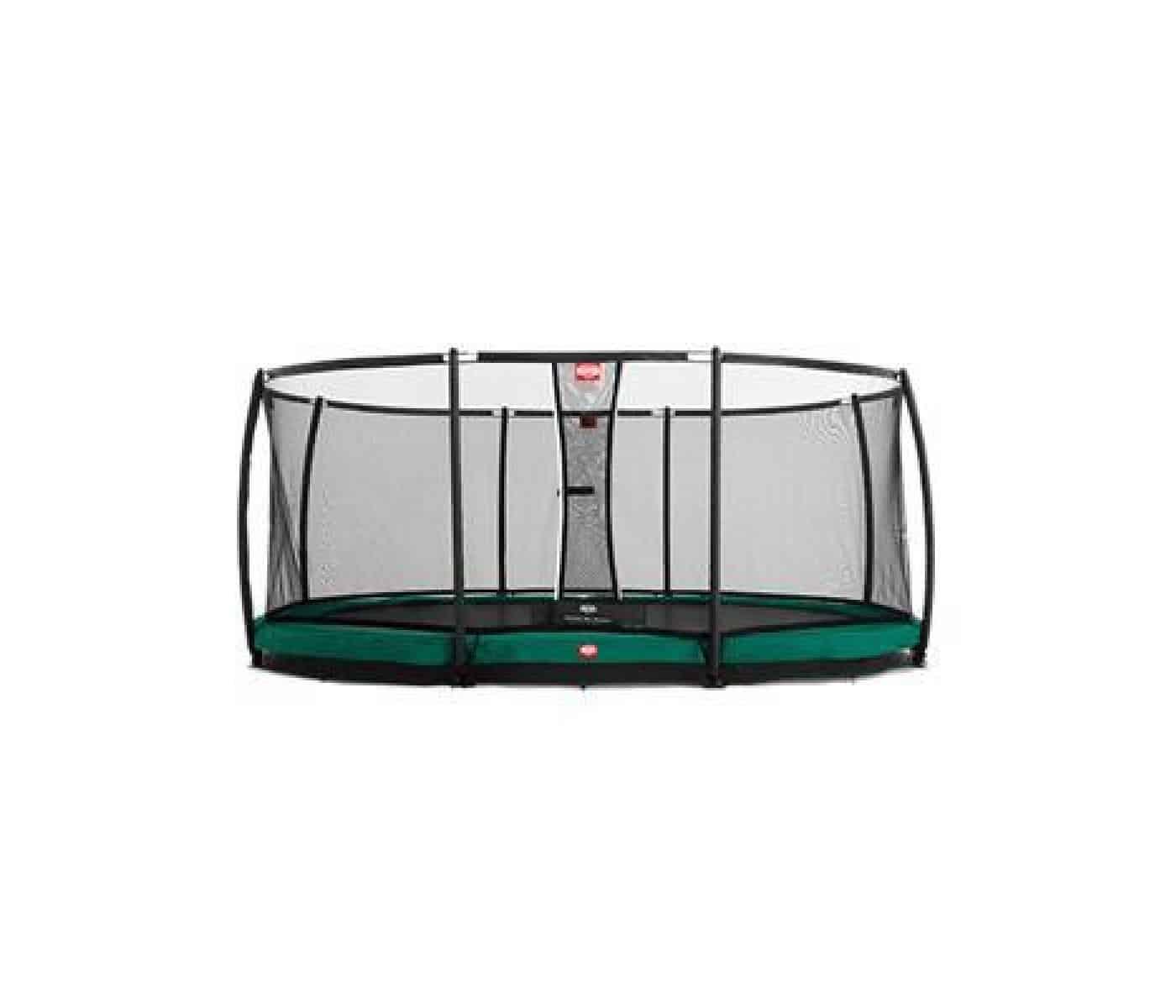 BERG champions nedgravet trampolin med net