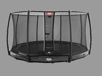 BERG elite inground 380 cm grå inkl deluxe sikkerhedsnet