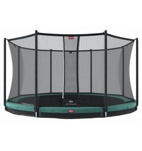 trampolin til nedgravning med sikkerhedsnet