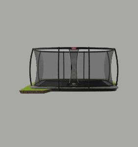BERG Ultim Elite FlatGround 500 Grå inkl sikkerhedsnet Deluxe XL